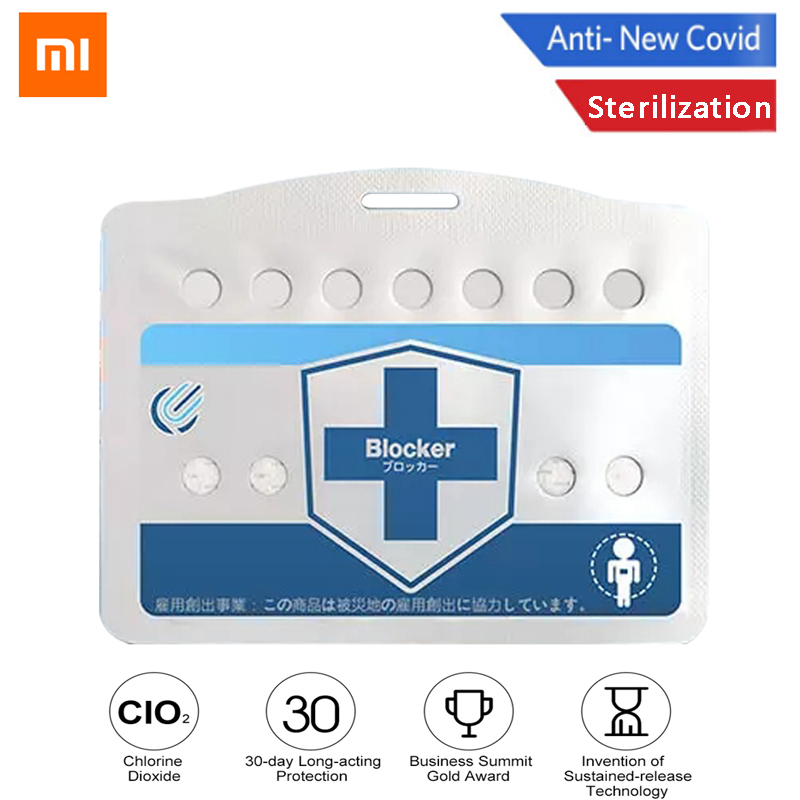 XiaoMi Blocker Portable Disinfection Sterilization Card Inhibition Disinfect Air Purification CLO2 Sterilize Protection Card
