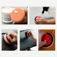 5pcs/Set Sponges 10cm Waxing Wash Polishing Pad With 1*Handle Practical