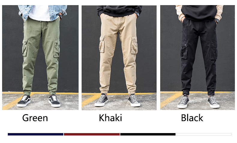 KSTUN Cargo Pants Men Summer Thin Male Overalls Loose fit Trousers casual pants joggers men's clothing brand soft 100% cotton 12