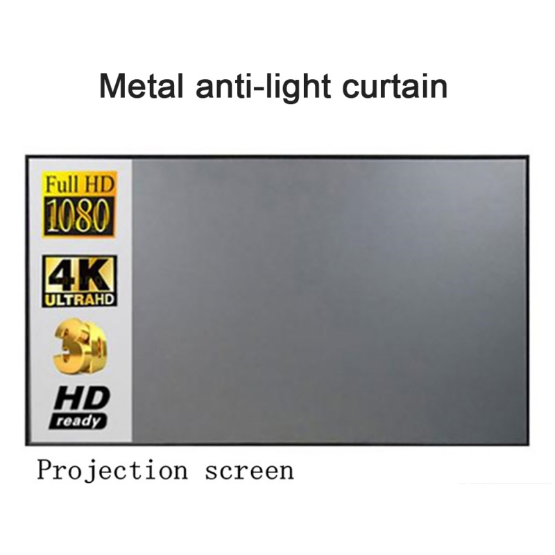 60 inch 3D 4K Projector Projection Screen For XGIMI H1 H2 H1S Z6 Z5 Z3 JMGO J6S E8 UNIC HD Projector Beamer Home Movies image