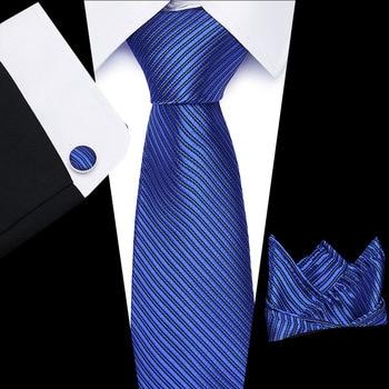 8cm 100% Silk Tie for Man Stripe  Floral Necktie Business Neckties Handkerchief Cuffink Tie Set  Wedding Party floral embroidered tie detail stripe dress
