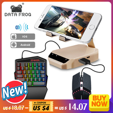 DATA FROG Bluetooth Keyboard Mouse Converter Stand PC Adapter Gaming PUBG Mobile Gamepad Controller Phone Holder For Android/IOS