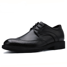 Genuine leather Men Dress shoes Classic Brogues Business shose men Formal Wedding Shoes Oxford Shoes For men Increasing Shoes christia bella brand fashion men oxford shoes genuine leather business office men brogues gold wedding men dress shoes male flat