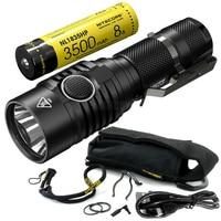 NITECORE MH23 Portable Spotlights 1800Lm CREE XHP35 HD LED Mini Waterproof Flashlight 3500mAh Rechargeable Battery Free Shipping