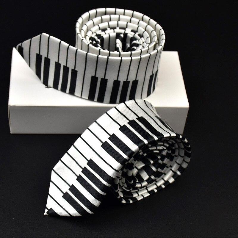 2019 New Style Men's Fashion Piano Guitar Neckties Helloween Festival Christmas Tie Soft Designer Character Necktie Music Score