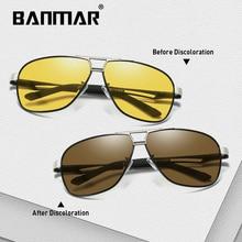 BANMAR Photochromic Sunglasses Men Polarized Discoloration Goggles Driving Discolor Sun Glasses Chameleon Eyewear for Male 8521 цена и фото