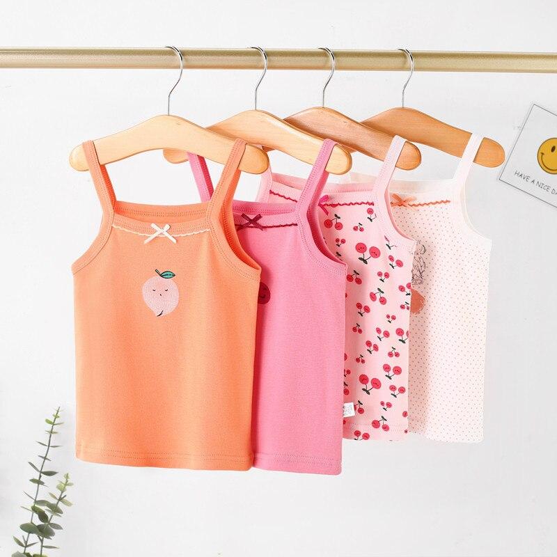 Summer Baby Girls T-shirt Tops Girls Undershirts Tank For Children Shirts Cartoon Girls Tops Kids Vest Baby Underwear Singlet