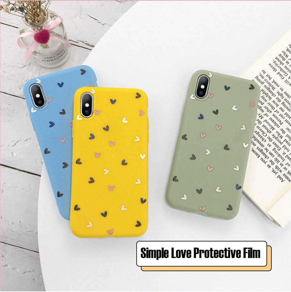Hb46a31f786d949178a4f97a799bf2d9f3 - Lovebay Silicone Love Heart Phone Case For iPhone 11 Pro X XR XS Max 7 8 6 6s Plus 5 5s SE Candy Color Shell Soft TPU Back Cover