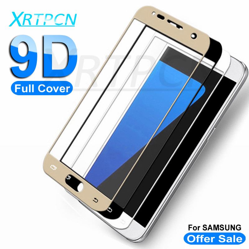 9D Protective Glass For Samsung Galaxy A3 A5 A7 J3 J5 J7 2016 2017 Screen Protector On The Samsung S7 Tempered Glass Film Case