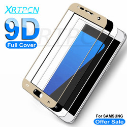 9D szkło ochronne do Samsung Galaxy A3 A5 A7 J3 J5 J7 2016 2017 ochraniacz ekranu na Samsung S7 szkło hartowane etui