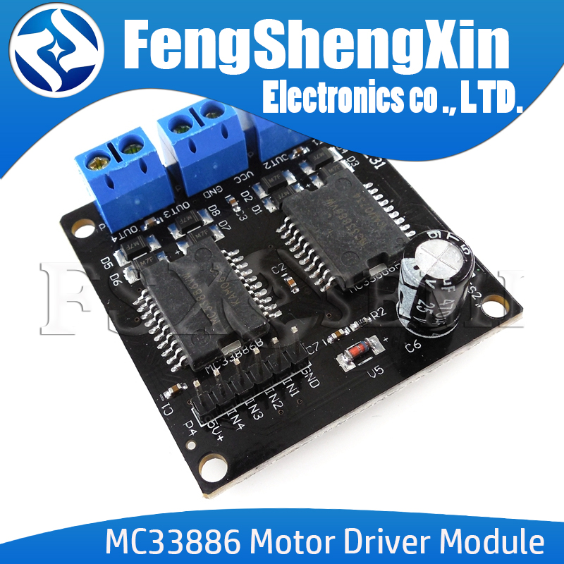 Dual <font><b>MC33886</b></font> Motor Driver Module 5A for Robot Smart car 5-12V image