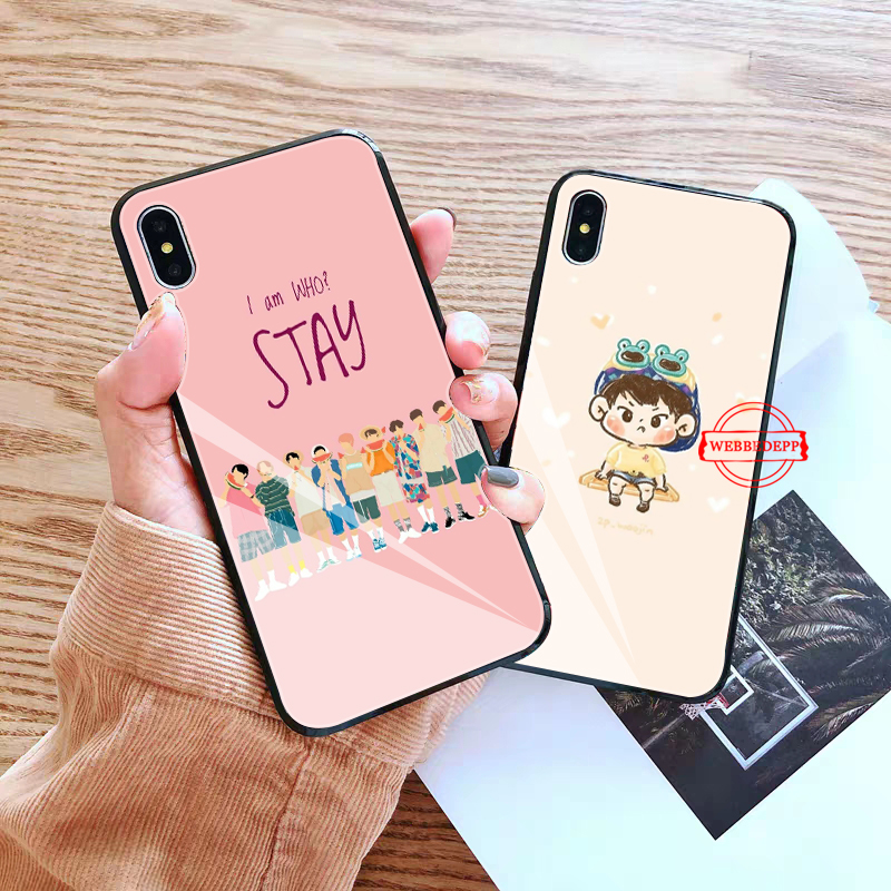 WEBBEDEPP Stray Kids Felix Chan I N Glass Phone Case for Apple iPhone XR X XS Max 6 6S 7 8 Plus 5 5S SE in Fitted Cases from Cellphones Telecommunications