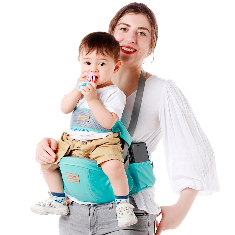 Ergonomic Baby Sling Carrier Walkers Waist Stool Kangaroo Front Facing Newborn Hip Seat Infant Carrier Wrap Pouch Holder Hipseat