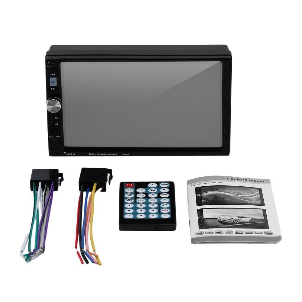 7080B Автомобильный видео плеер 7 дюймов с HD сенсорным экраном Стерео радио автомобиль MP3 MP4 MP5 Аудио USB Авто электроника
