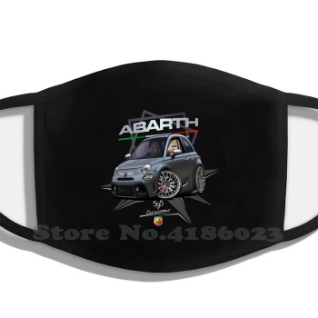 Fiat 595 Abarth Printing Washable Breathable Reusable Cotton Mouth Mask Fiat Abarth Fiatabart Fiat 595 Abart Fiat 595 Abarth image