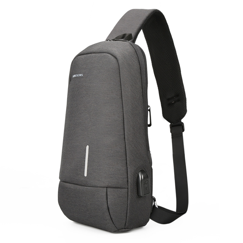 Kingsons Manufacturers Direct Selling Backpack Casual Chest Pack USB External Charging Port Shoulder Bag A Generation Of Fat