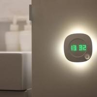Luz nocturna con Sensor de movimiento inteligente para habitación, baño, baño, pasillo, pasillo, reloj de lámpara