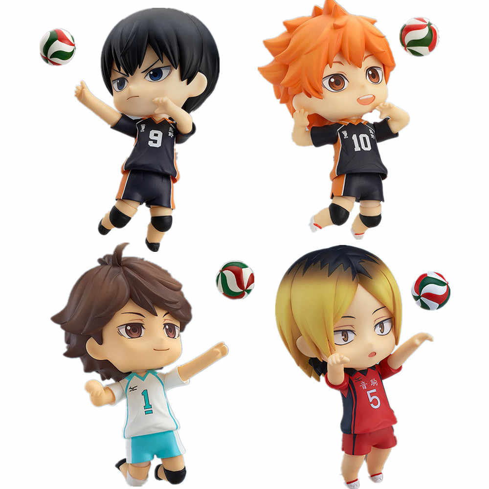 Haikyuu Pvc Action Figure Shoyo Tobio Kenma Tooru 489 #563 #461 #605 # Anime Haikyuu Nekoma Leuke model Speelgoed Beeldje 100Mm