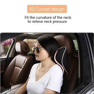 Image 3 - 3D 車のヘッドレスト枕空間メモリ泡ソフト自動車シートバック頸部レストクッションプロテクター快適なドライブ車のアクセサリー