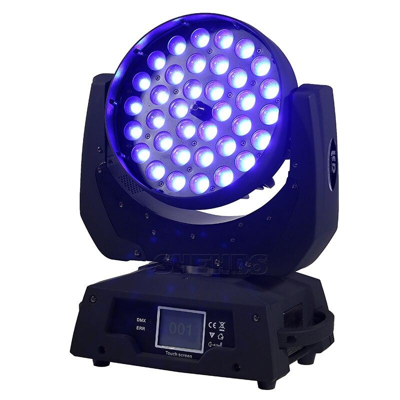 2PCS 19X15W LED Zoom Moving Head Light RGBW Wash 36x12W 36x15W DMX512 Beam Party Stage Dj Equipment 36X18W RGBWA UV 6in1 SHEHDS