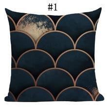 New Geometric Cotton linen blend pillow sofa car cushion case cover