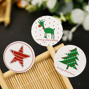 Image 2 - 108pcs Christmas Tree Seal Sticker Merry Christmas Deer Elk Star Paper Stickers Self Adhesive Paper Label Baking Gift Stickers