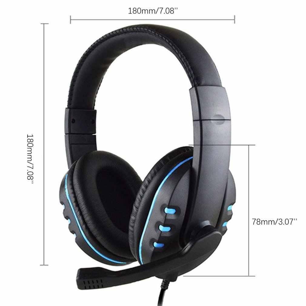 Gaming Headset Stereo Surround Cuffie da 3.5mm di trasporto Wired Microfono Per PS4 Computer Portatile Per Xbox one Gamer Cuffia