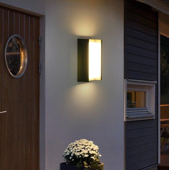 Креативный дверной светильник для балкона, водонепроницаемый настенный светильник, светодиодный внутренний двор, китайский современный минималистский дом, наружная настенная наружная лампа - 2