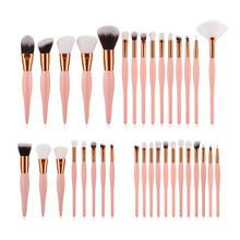 8/12/15 pcs Pink Makeup Brushes High Quality Make Up Tool Brush Set Foundation Powder Blush Lip Eyeliner Eyeshadow Eyebrow Brush jessup buy 3 get 1 gift makeup brushes set foundation blush liquid kabuki eyeshadow eyeliner lip contour make up brush smudge