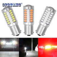 1156 P21/5W BAY15D Super Bright 33 SMD 5630 5730 LED auto brake lights fog lamp 21/5w car daytime running light stop bulbs 12V