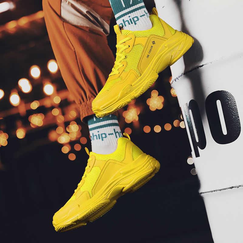 Giày Thể Thao Nam Nữ Unisex Cứng Skate Cá Tính Thể Thao Xanh Vàng Orange 35-45
