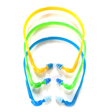 hot! 1Pcs Swim Reusable Hearing Protection Noise Reduction Earplugs Earmuff Silicone Corded Ear Plugs Ears Protector