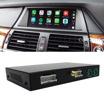 X5 E70 CIC system radio retrofit wireless carplay interface module box android auto activate add-on for car headunit DVD monitor image