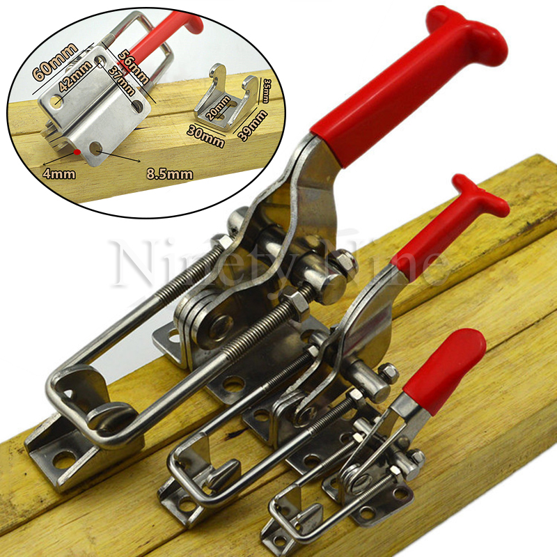 304 Stainless Steel Clamp Clamping Tool, High Clamping Force, Box Buckle, Quick Clamping Buckle Hasp Mechanical Lock