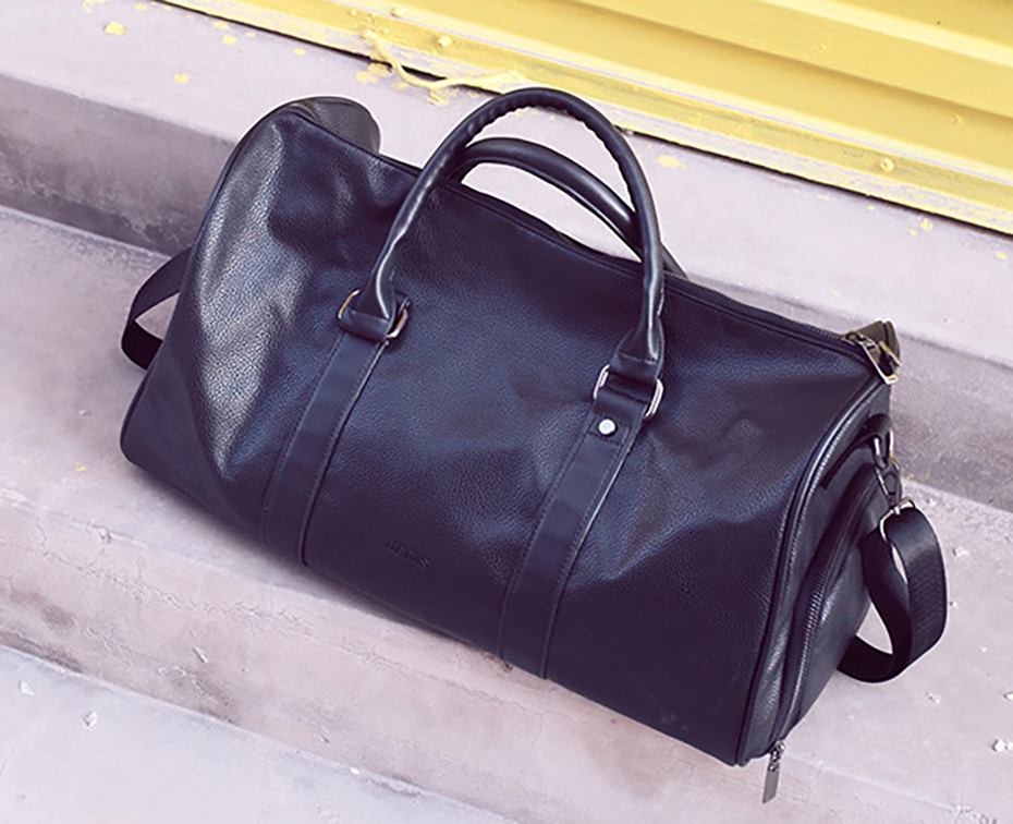 Men's Leather Sports Training Bag Durable Gym Bags For Men Women Fitness Military Training Handbag Leather Travel Luggage Tote09