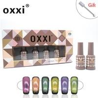 oxxi Latest 9D Cat's Eye Gel Polish 8ml a Set of Gel Varnishes Nail Art Aurora Varnish Hybrid Semi permanent Gellak Magnet New