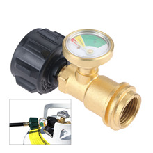 Propane Tank Gauge Level Indicator Leak Detector Gas Pressure Meter Universal for RV Camper, Cylinder, BBQ Gas Grill, Heater