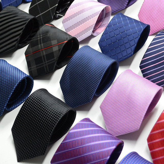 Men's Solid-Color Jacquard Neckties
