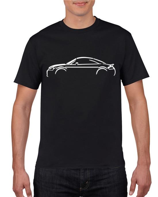 100% Cotton Printed T-shirt Men PREMIUM AUTOTEES CAR T-SHIRT - FOR AUDI TT MK 1 ENTHUSIASTS