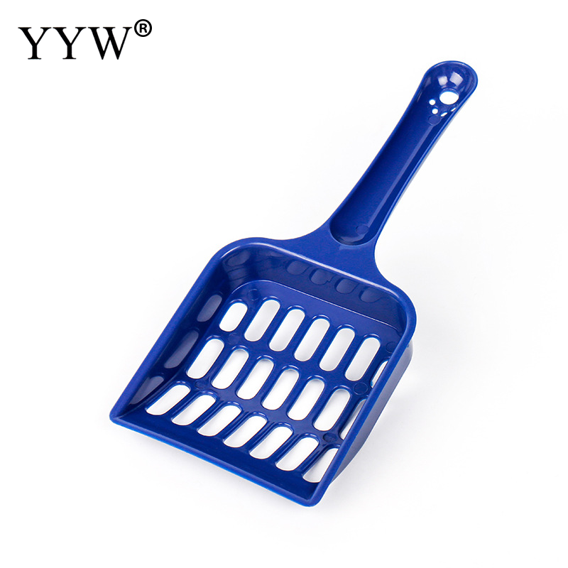 1pcs Plastic Easy Cleaning Cat Litter Shovel Portable Dog Poop Dispenser Pet Pooper Scooper Pet Products Pet Cleaning Supplies in Litter Housebreaking from Home Garden