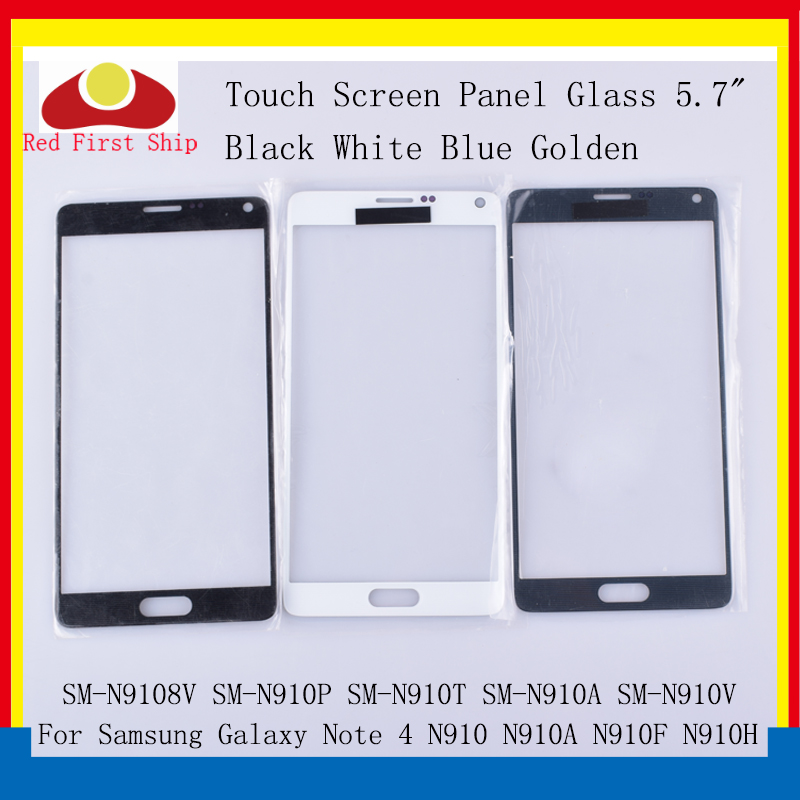10Pcs lot Touch Screen For Samsung Galaxy Note 4 Note4 N910 N910C N910A N910F N910H Touch Panel Front Outer Note 4 LCD Glass in Mobile Phone Touch Panel from Cellphones Telecommunications