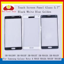 10Pcs/lot Touch Screen For Samsung Galaxy Note 4 Note4 N910 N910C N910A N910F N910H Touch Panel Front Outer Note 4 LCD Glass цена и фото