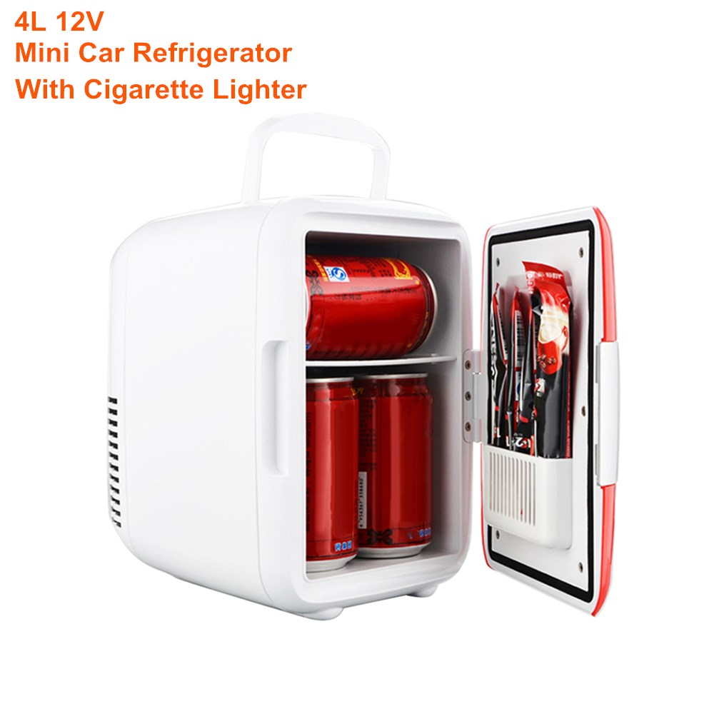 Warmer Cooler Car-Refrigerator Snacks Drinks Auto Mini 12V 4L For Meals Low-Noise