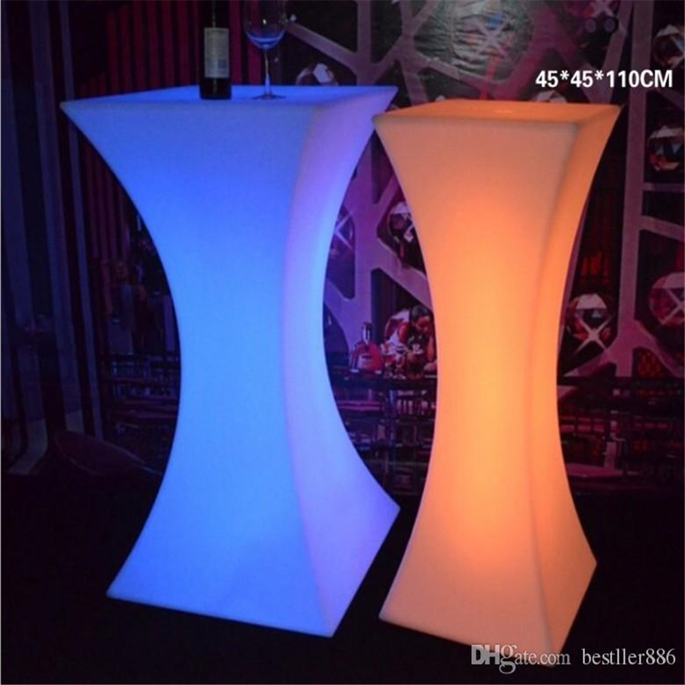Image 4 - Rechargeable LED Luminous cocktail table waterproof glowing led bar table lighted up coffee table bar kTV disco party supply-in Coffee Tables from Furniture