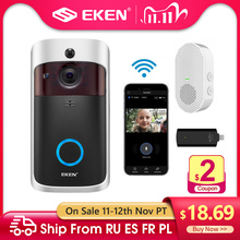 EKEN V5 Smart IP Video Intercom WIFI Video Tür Telefon Tür Glocke WIFI Türklingel Kamera IR Alarm Wireless Security Kamera