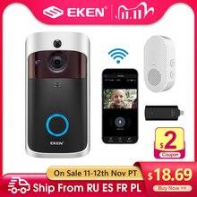 EKEN V5 akıllı IP Video interkom WIFI görüntülü kapı telefonu kapı zili WIFI kapı zili kamera IR Alarm kablosuz güvenlik kamera
