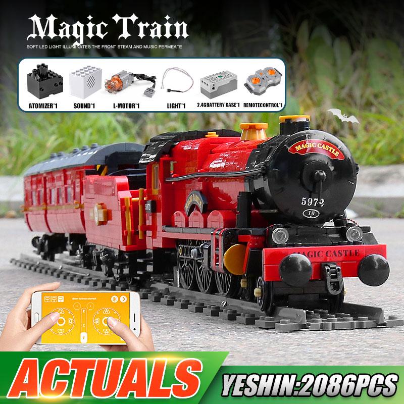 MOULD KING 12010 High-tech Car Toys The APP RC Motorized Magic Train Model Building Blocks