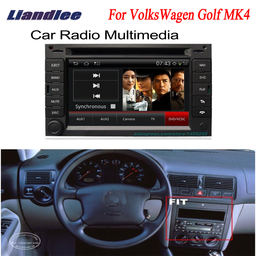 Liandlee For VolksWagen VW <font><b>Golf</b></font> <font><b>MK4</b></font> 2003~2004 2 din Car Android GPS Android navigation navi ODB2 maps CD DVD palyer radio image