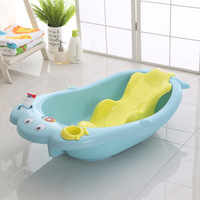 You Di Bear Whale Temperature Large Size Tub Baby Bathtub Baby Children Bathtub with Plate Lying Water Distribution Spoon