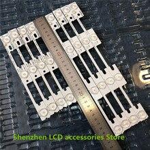 50 unids/lote 100% nuevo LED tiras de luces de la barra para KDL32MT626U 35019055 35019056 25 uds * 4LED + 25 uds * 3LED 1LED = 6V